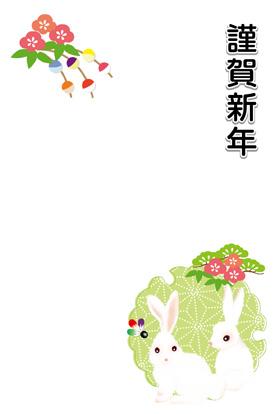 サンプル いのしし親子と玉飾り-3