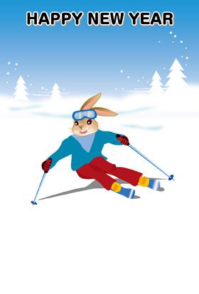 サンプル いのししのスキー-4